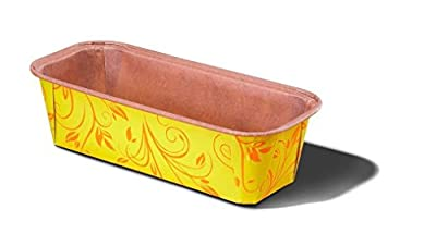 "Plumpy Large Paper Baking Loaf Pan Good For All Of The Plumpy Loaf Cake, Banana Cake, Seed Bread Color YELLOW Size L7 7/8"" x W 2.87"" x H 2.45"" Model 8019962GG"