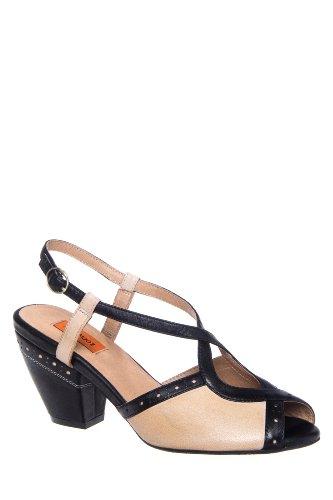 Pepper Mid Heel Ankle Strap Sandal