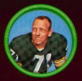 1962 Salada Tea Coins (Football) Card# 16 Bill Forester Of The Green Bay Packers Exmt Condition
