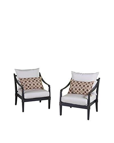 RST Brands Astoria Set of 2 Club Chairs, Cream