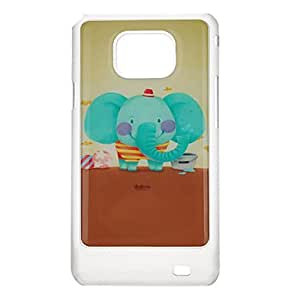 Clumsy Elephant Pattern Protective Hard Back Case Cover for Samsung Galaxy S2 I9100