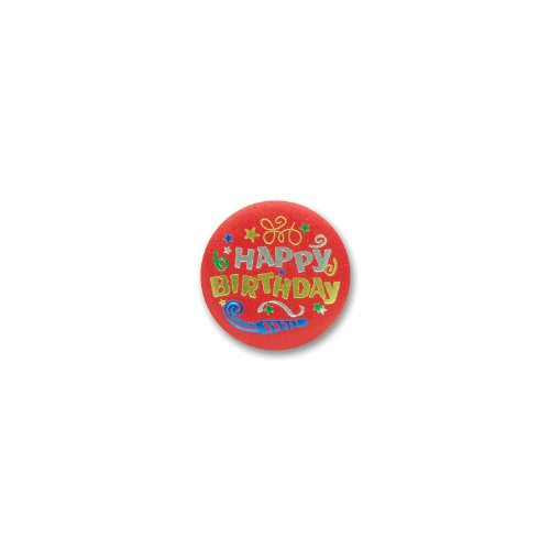 "Happy Birthday Satin Button 2"" Party Accessory - 1"