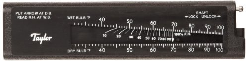 Taylor Precision Products Pocket Sling Psychrometer (20- to 120-Degrees Fahrenheit) (Digital Slide Rule compare prices)