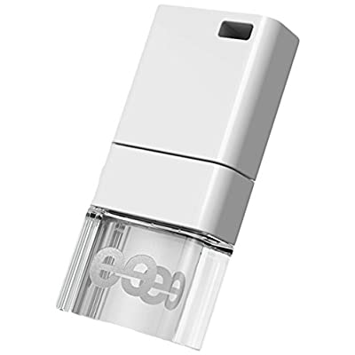 Leef Ice USB 2.0 64GB High-speed USB Flash Drive with Soft-glow LED and PrimeGrade Memory (White)