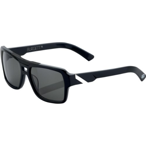 100% Burgett Sunglasses - Black/White