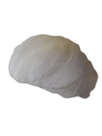 "Keystone 2020WH White Adjustable Cap Co Lightweight Nylon Mesh Disposable Hairnet, 20"" Diameter (Case of 1000)"