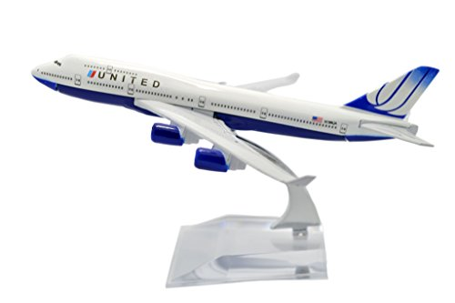 TANG DYNASTY(TM) 1:400 16cm Boeing B747-400 United Airline Metal Airplane Model Plane Toy Plane Model (United Airlines Model compare prices)