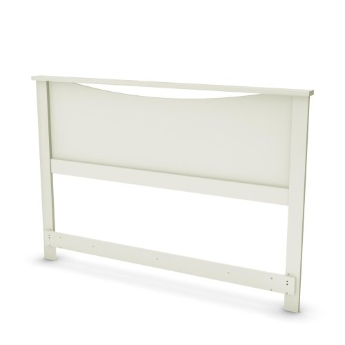 South Shore Step One Collection Headboard (54/60''), Pure White, Full/Queen front-926647