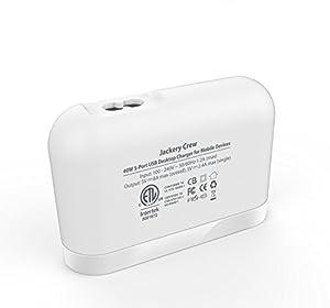 Adaptador Jackery Crew de 5 puertos USB de alta velocidad para carga rápida compatible con iPhone, iPad, Samsung Galaxy S6 / S6 Edge, relojes inteligentes y otros dispositivos inteligentes