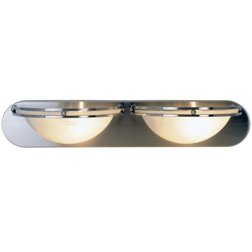 AF Lighting 617607 Contemporary Lighting Collection Vanity Fixture, Brushed Nickel, 24-Inch W by 4-5/8-Inch H by 6-Inch E