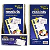"""Adams Business Forms Write N' Stick Receipt Book, 7-5/8""""x11"""", 600 Total Sets"""