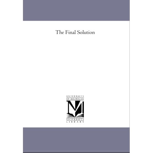 an analysis of gerald reitlingers the final solution Reitlinger's history of the ss is thorough and authoritative- but it is also a full-scale attack upon a popular fraud and it is especially a piece of brilliant political analysis.