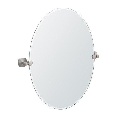 Gatco 4159 Jewel Oval Mirror, Satin Nickel front-1014901