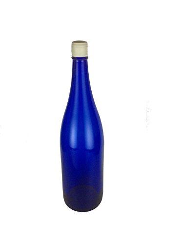 一升瓶 ブルー 1800ml プラスティックキャップ付き