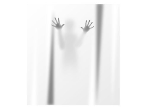 Deathly Scary Shadow Shower Curtain