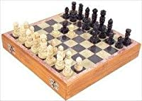 New - Carved Soapstone 8-in. Chess Set - CS8