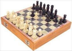 New - Carved Soapstone 8-in. Chess Set - CS8 - 1