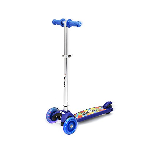 Vokul® VK-1281F Mini Kick 3 Wheel Scooter with Flash Wheel