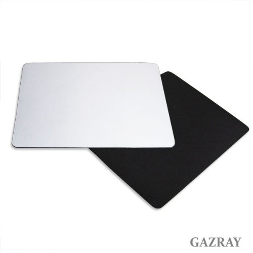 Set-of-2-Wide-Mouse-Pads-Standard-Compatible-Big-Mouse-Pad-Non-slip-Rubber-base-13-x-10-x-015-Black-White