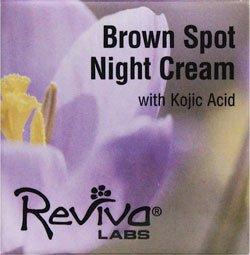 海外直送品 Reviva Brown Spot Night Cream, with Kojic Acid EA 1 1 OZ