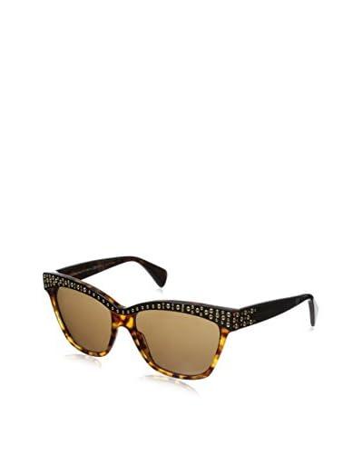 Alexander McQueen Women's AMQ4239/S Black Havana/Dark Brown Sunglasses
