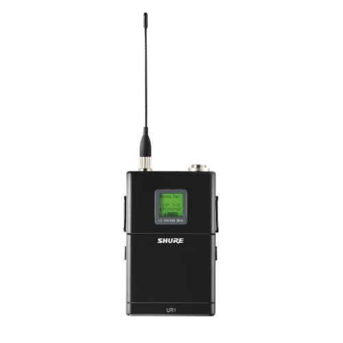 New Shure | High-Performance 500-Feet Range Highly-Durable Wireless Bodypack Transmitter, Ur1 With Switchable Rf Power And Bit-Mapped Backlit Lcd Display (H4 : 518-578 Mhz)