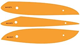 Set of 3 French Ship Curves Curve Drawing Drafting Template Stencil - Fashion Garment Tailoring Sewing Dressmaking Design