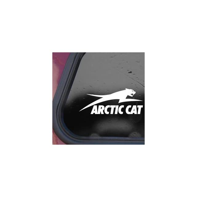 Arctic Cat White Sticker Decal Snowmobile Wall Laptop Die cut White Sticker Decal