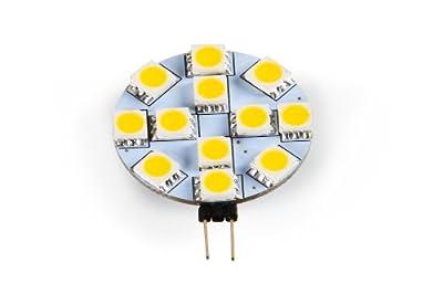 Camco G4 Bright White Light LED Bulb with Bi-Pin Base