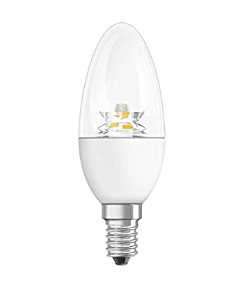 osram e14 40 watt led clear candle lightbulb non dimm. Black Bedroom Furniture Sets. Home Design Ideas