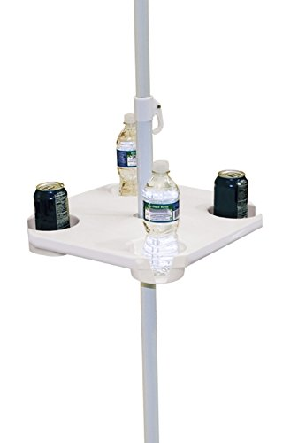 Best Prices! Rio Brands UT-01 Beach Umbrella Table, White