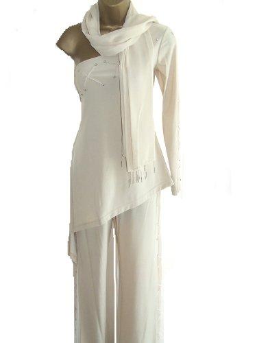 Cocktail Evening Trouser Dress Suit - 3 Pieces