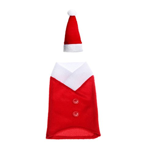 [Bottle Cover, Yasalu Christmas Santa Claus Wine Bottle Cover Bags Home Party Decoration] (Peacock Spider Costume)