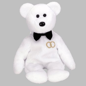 TY BEANIE Baby MR. the GROOM Bear - 1