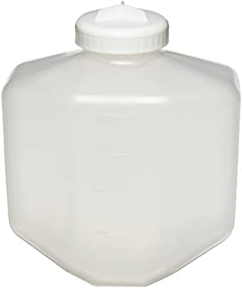 Nalgene 3120-2006 Polypropylene Copolymer 2L Bio Bottle with Polypropylene Screw Closure/Silicone Gasket (Case of 6)