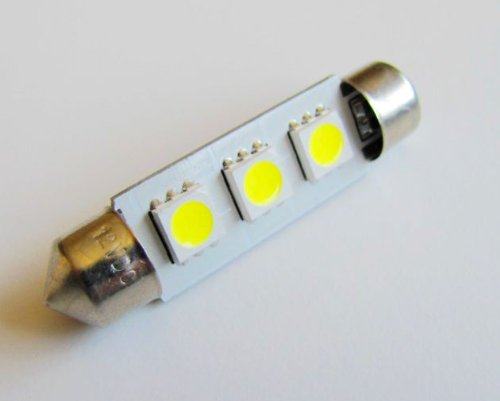 42mm High Power 3 SMD LED Festoon Dome Bulb White