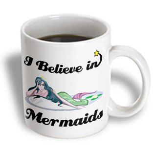 3Drose I Believe In Mermaids Ceramic Mug, 11-Ounce