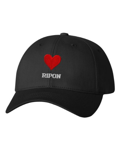 I Love Heart Ripon Ca City Embroidered Cap Hat Black (City Of Ripon Ca compare prices)