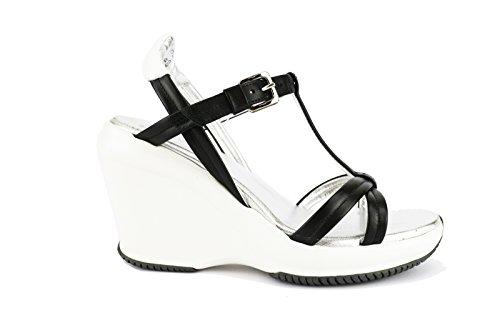 HOGAN 36 EU sandali donna nero pelle AH683-B