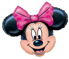 "Amazon.com: MINNIE MOUSE Head 28"" Pink Black Ears Birthday PARTY Foil"