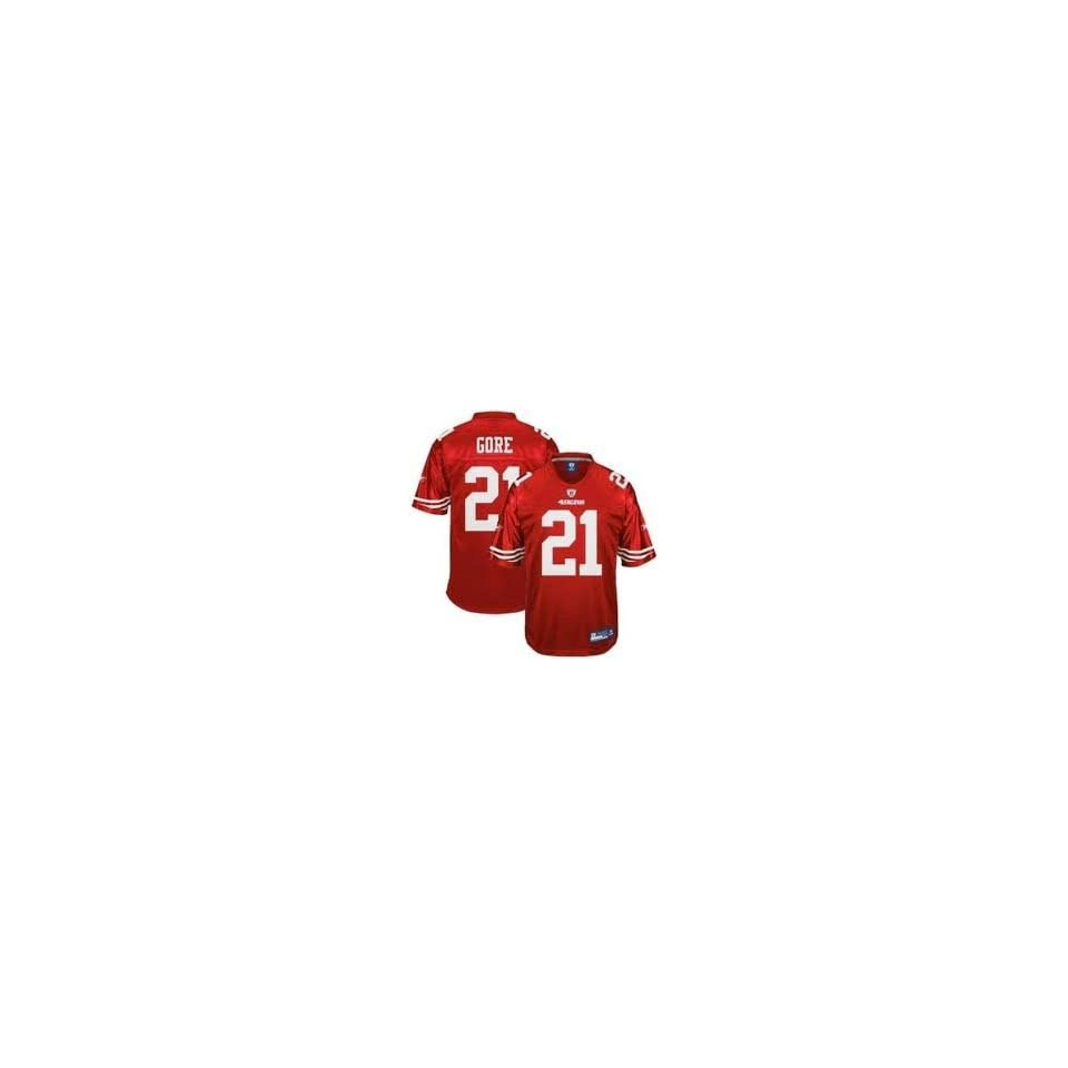 231ab0b46 Reebok Frank Gore San Francisco 49ers Red Authentic Jersey Size 52 ...