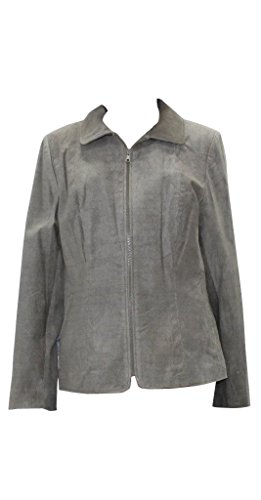 New Bergama Taupe Printed Suede Jacket (XL)