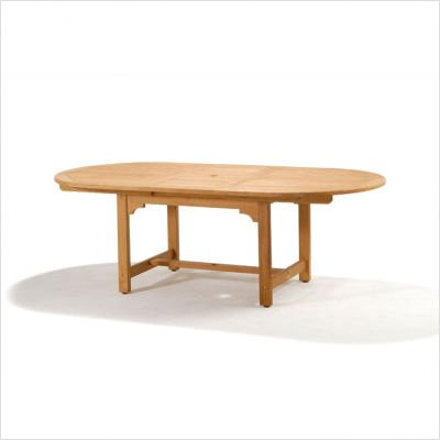 Kalimantan Teak Oval Extension Dining Table