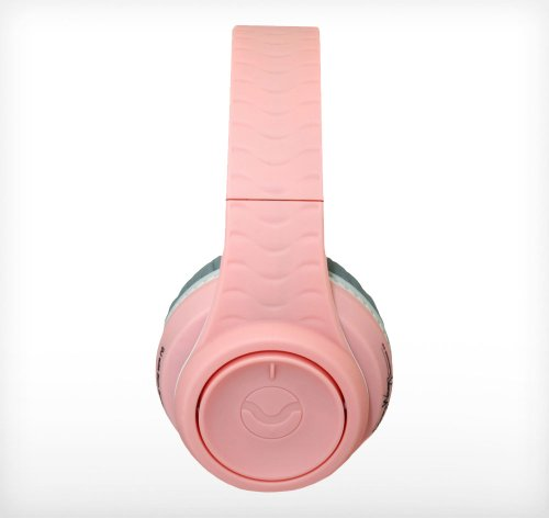 Fanny Wang Headphones Co. Over Ear Dj Headphones With Selectable Bass Boost & Apple Integrated Remote And Mic, Pink-White, (Fw-2003-Pnk-Whi)