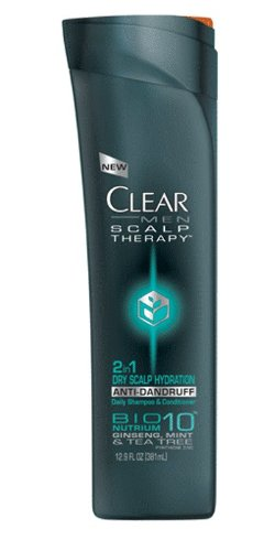 CLEAR MEN SCALP THERAPY 2 in 1 AntiDandruff Shampoo and Conditioner, Dry Scalp Hydration, 12.9oz