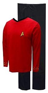 Robe Factory Men's Star Trek Red Scotty Pajama Set