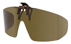 Polarized Clip-on Flip-up Plastic Sunglasses - Wrap Style ...