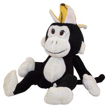 Generic Value Plush - BLACK MONKEY with Banana Hat ( 10 inch )