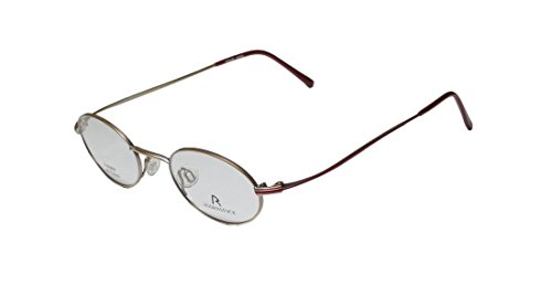 Rodenstock R4229 Mens/Womens Ophthalmic Collectible Oval Full-rim Eyeglasses/Glasses (45-20-145, Matte Gold / Red) (Rock Star Rims Chrome compare prices)