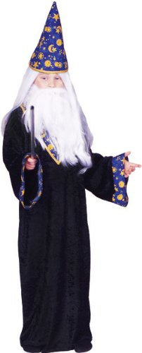 Child's Black Magic Wizard Costume (Size:Med 8-10)
